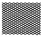 図1a) 交差線が密集する場合の線間の最小すき間の例