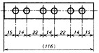 図34 直列寸法記入法による指示例