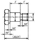図83 b) 肩付きボルト