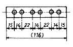 直列寸法記入法の例
